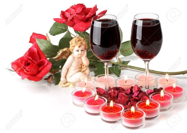 4142109-Two-glasses-of-wine-heart-from-candles-and-cupid-Valentines-day-card--Stock-Photo