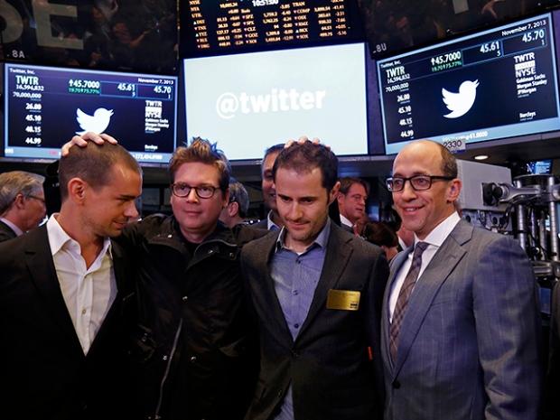 Jack Dorsey, Evan Williams, Biz Stone e Noah Glass – os fundados do Twitter