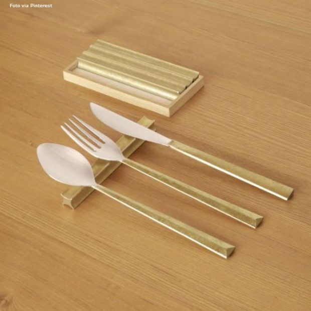 Etiquette-suporte-talheres-madeira-Dourado-Triplo