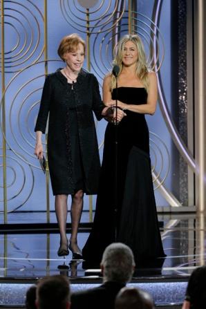 Carol Burnett and Jennifer Aniston