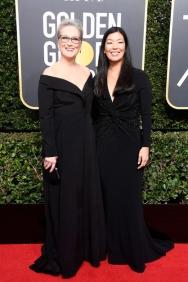 Actor Meryl Streep e Ai-jen Poo